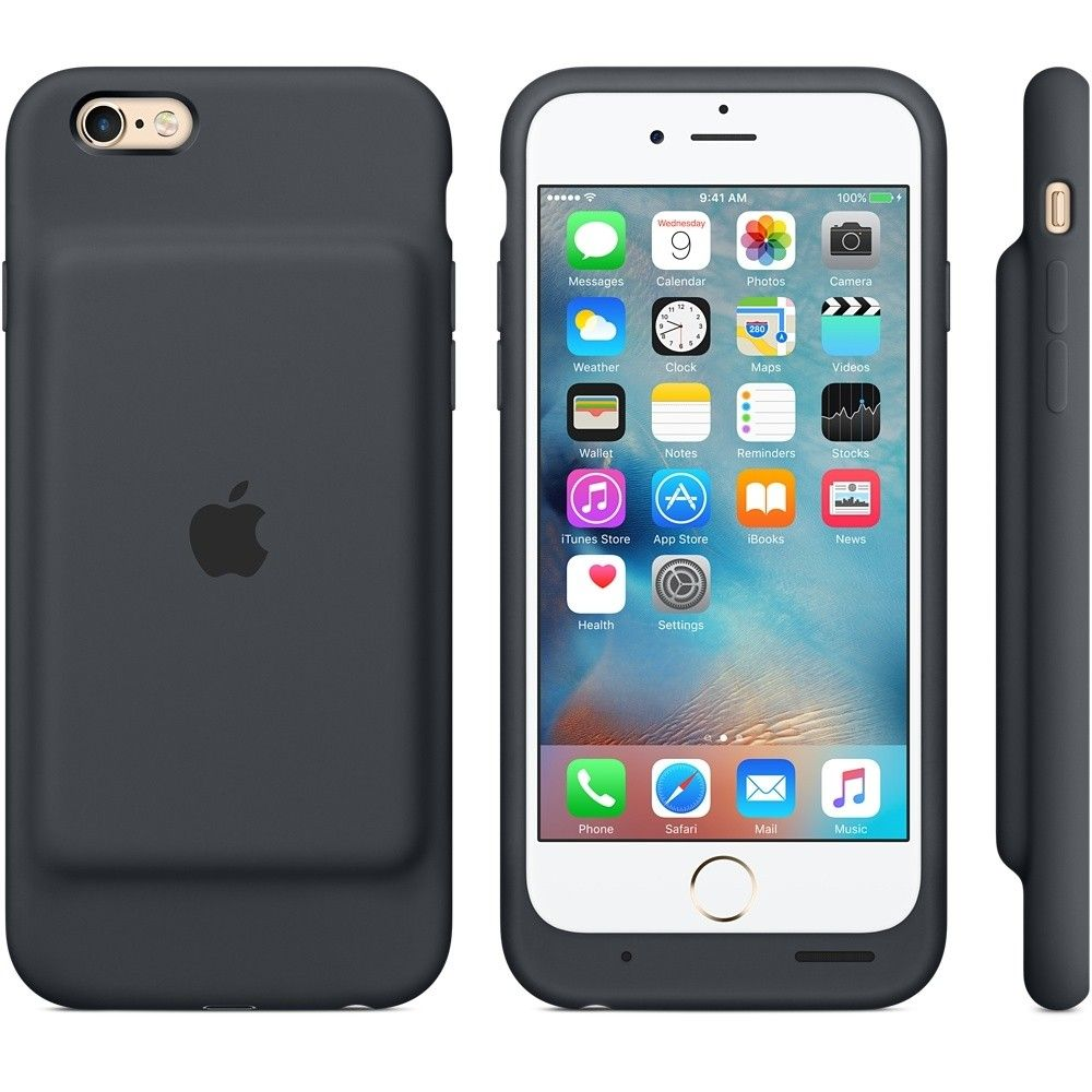Чехол-аккумулятор Apple Smart Battery Case Charcoal Gray (MGQL2) для iPhone 6s - 2