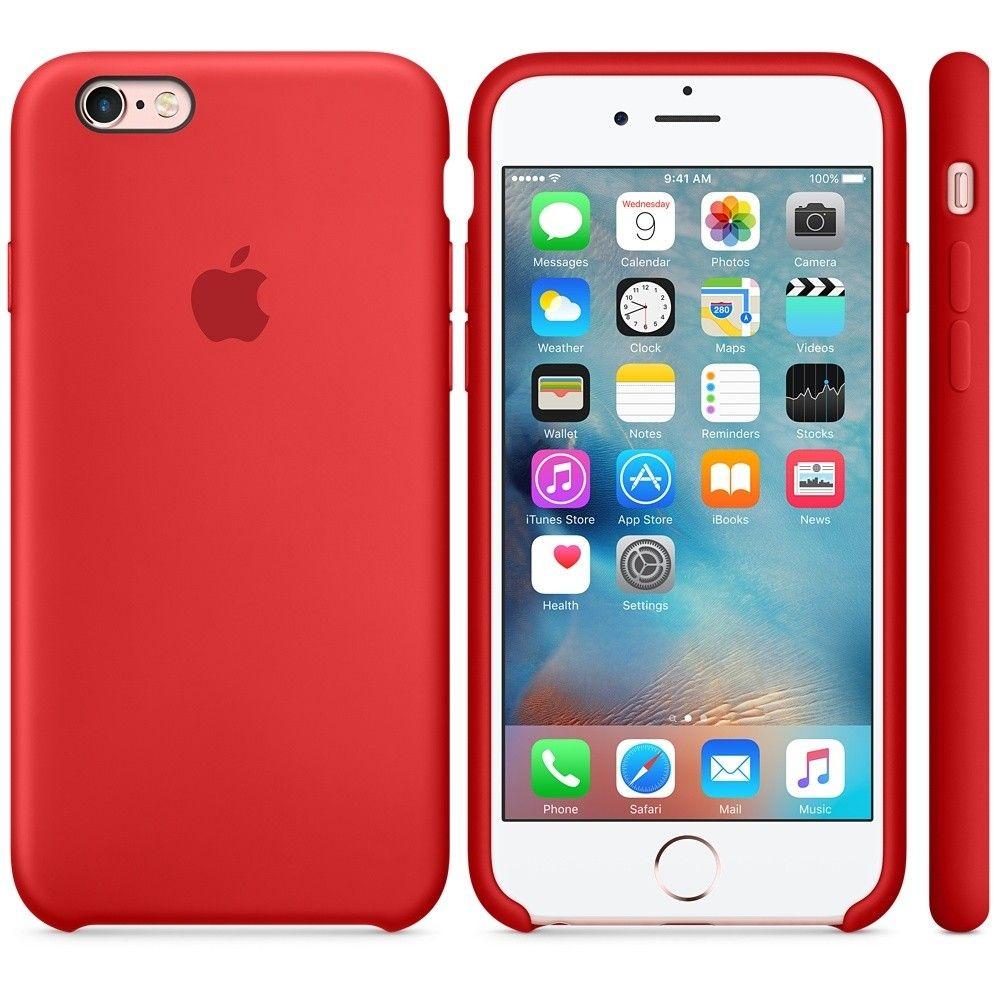 Силиконовый чехол Apple iPhone 6s Plus Silicone Case (MKXM2) Red  - 2