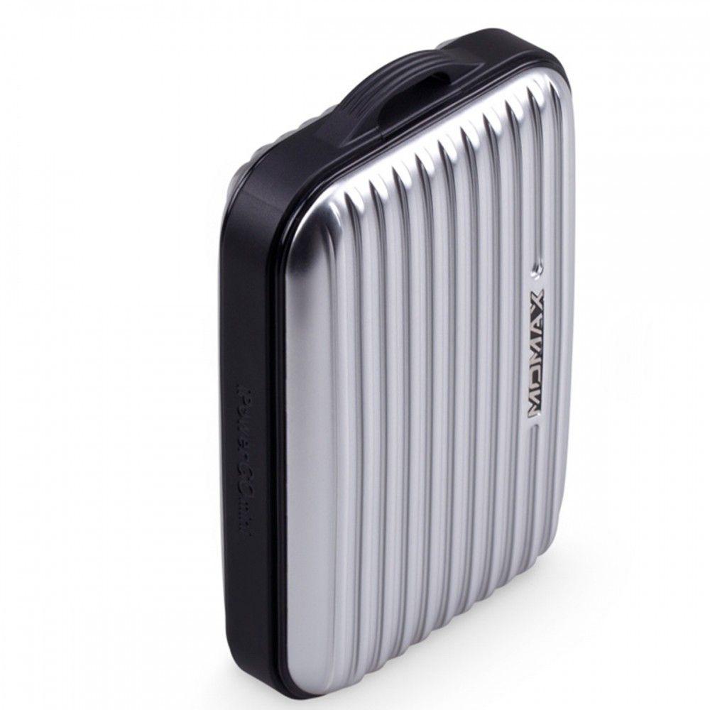 MOMAX iPower GO Mini+ Luggage External Battery Pack 10000mAh Grey (IP36AD2) - 1