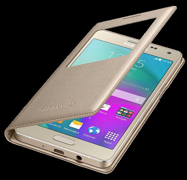 Чехол Samsung S View для Samsung Galaxy A5 500 Gold (EF-CA500BFEGRU) - 2