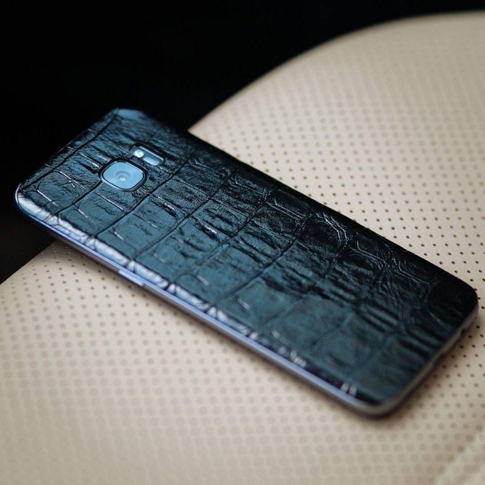 Кожаная наклейка Black Croco для iPhone 5S/SE - 2