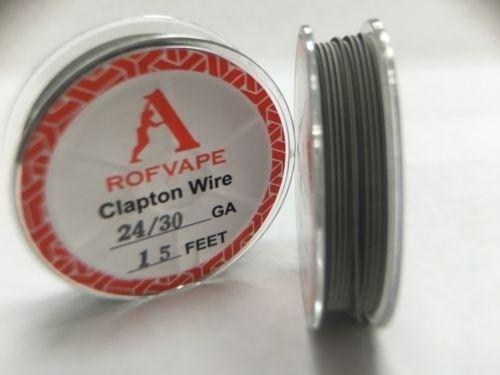 Проволока для спирали Rofvape Clapton Wire 24GA+30GA 5 м (PVCW2430) - 1