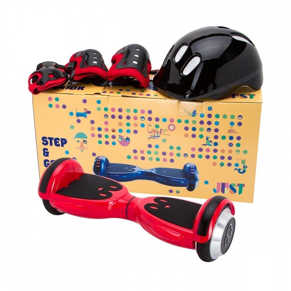 Детский гироборд JUST StepGO Junior + bagDefence set Red (SGMLY-S5BDSRD) - 1