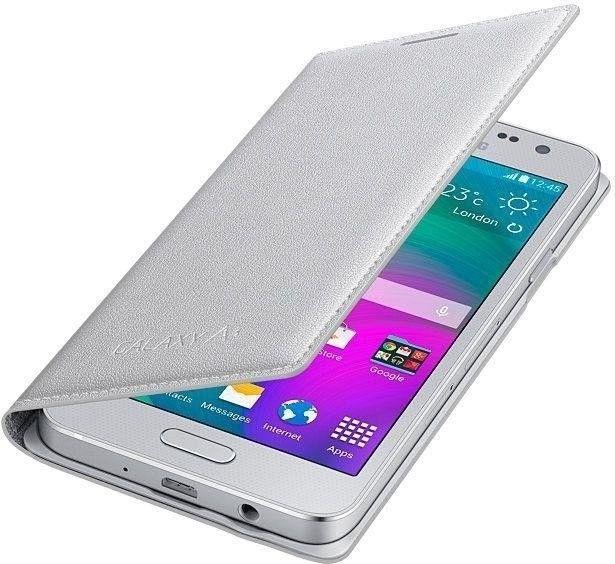 Чехол Samsung Flip Cover для Samsung Galaxy A3 Silver (EF-FA300BSEGRU) - 3