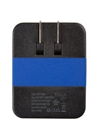 Сетевое зарядное устройство Tylt Wall Travel Charger 4,2A Dual USB Port Black-Blue (USBTC42BL-EUK) - 1