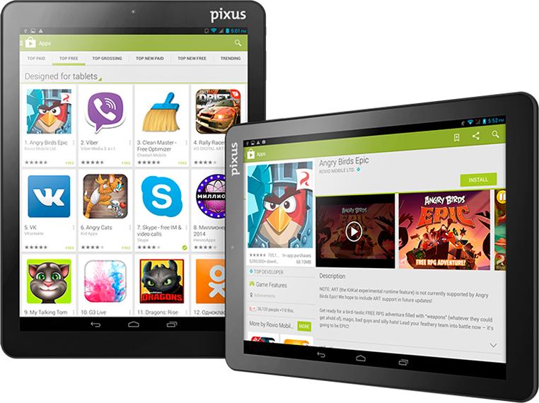 Планшет Pixus Touch 9.7 3G - 3