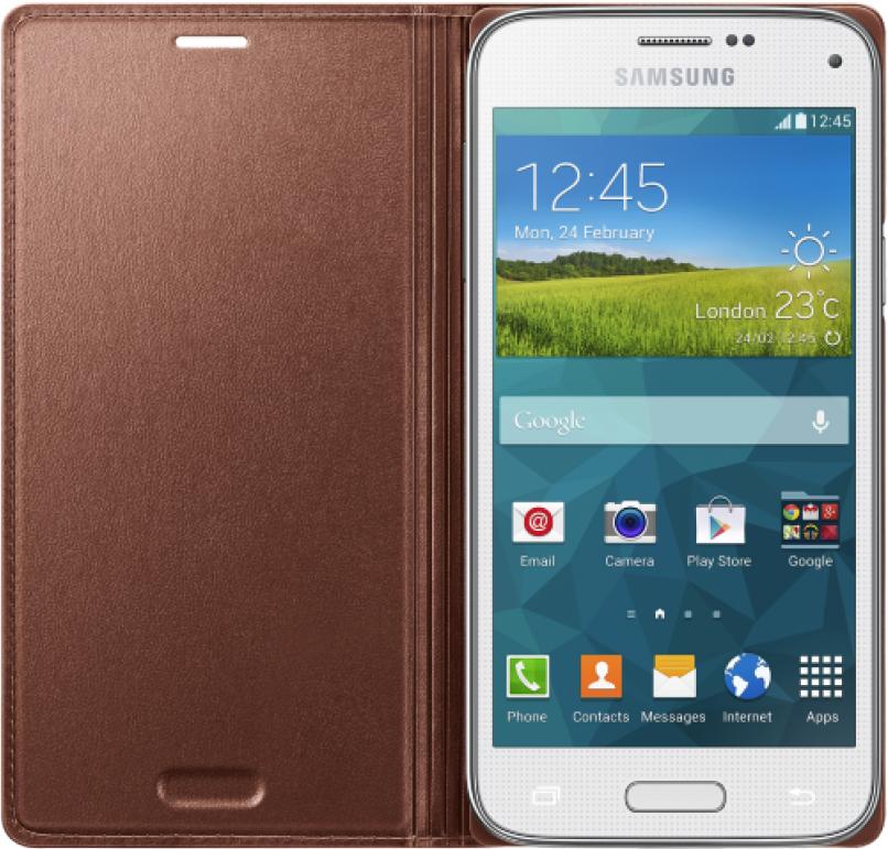 Чехол Samsung для S5 mini EF-FG800BFEGRU Rose Gold - 1