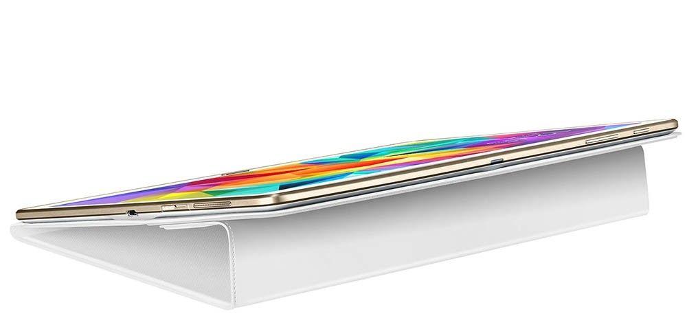 "Чехол Samsung T80x для Samsung Galaxy Tab S 10.5"" Dazzling White (EF-BT800BWEGRU) - 4"