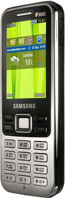 Мобильный телефон Samsung C3322 Duos Metallic Black - 1