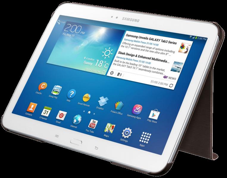 Обложка Samsung для Galaxy Tab 3.0 10.1 Gold Brown (EF-BP520BAEGWW) - 1