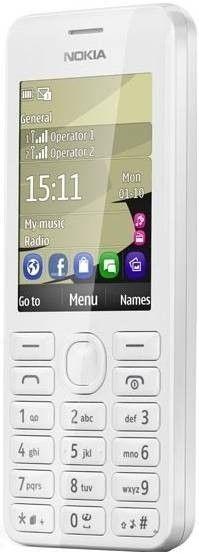 Мобильный телефон Nokia 206 Asha Dual Sim White - 1