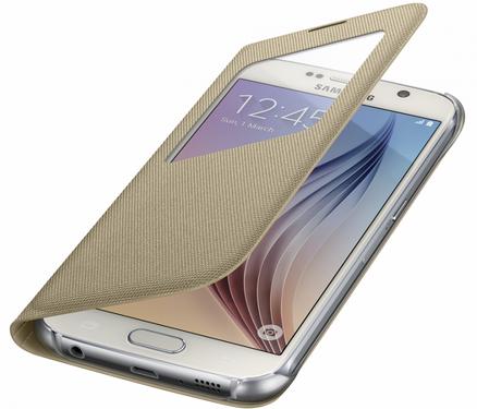 Чехол Samsung S View Zero для Samsung Galaxy S6 Gold (EF-CG920BFEGRU) - 3