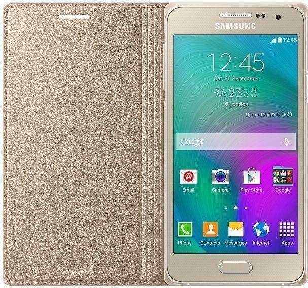 Чехол Samsung Flip Cover для Samsung Galaxy A3 Gold (EF-FA300BFEGRU) - 2