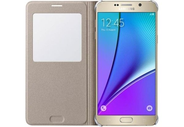 Чехол Samsung Note 5 N920 EF-CN920PFEGRU Gold - 3