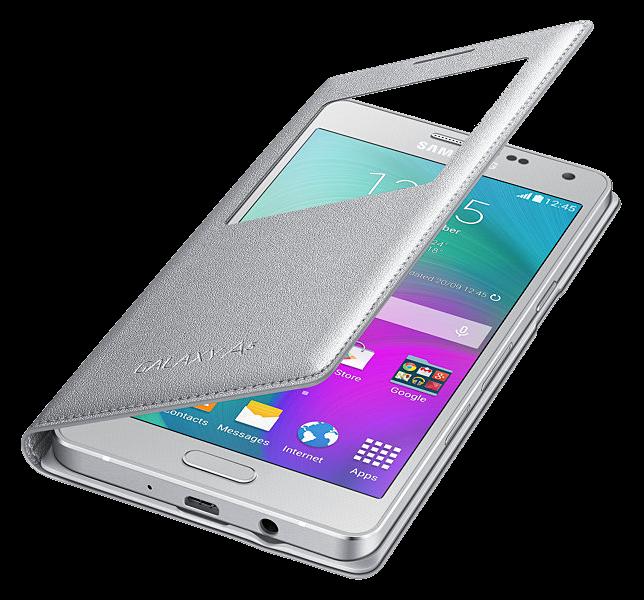 Чехол Samsung S View для Samsung Galaxy A5 500 Silver (EF-CA500BSEGRU) - 3