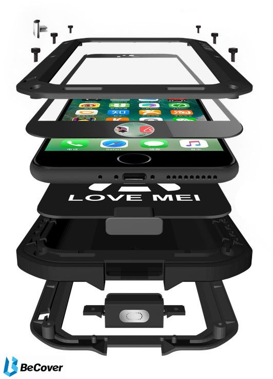Панель Love Mei Powerful для Apple iPhone XR (703118) Black от Територія твоєї техніки - 6