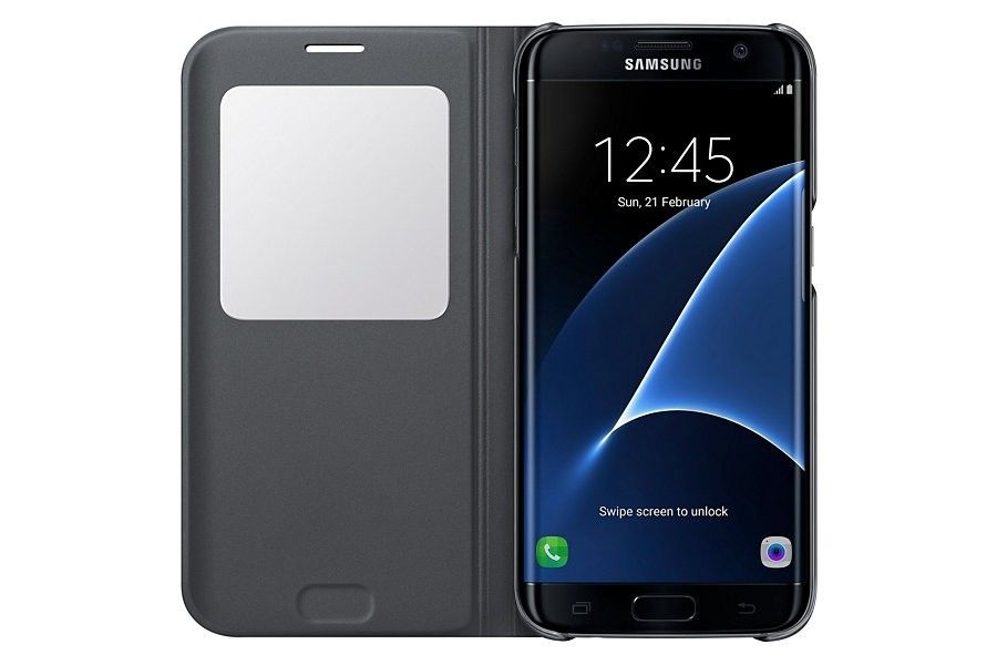 Чехол Samsung S View для Galaxy S7 Edge Black (EF-CG930PSEGRU) - 3