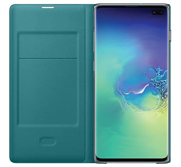 Чехол-книжка Samsung LED View Cover для Samsung Galaxy S10 Plus (EF-NG975PGEGRU) Green от Територія твоєї техніки - 4