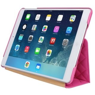 Чехол-книжка для iPad Jison Quilted Leather Smart Case (JS-ID5-02H33) Rose Red for iPad Air/Air 2 - 1