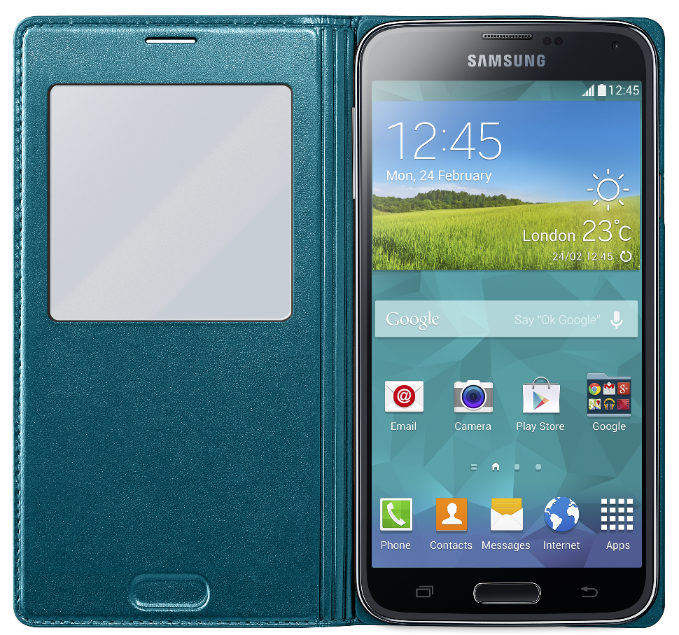 Чехол Samsung S View для Galaxy S5 Green (EF-CG900BGEGRU) - 1