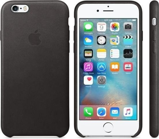 Чехол для Apple iPhone 6s Leather Case Black (MKXW2ZM/A) - 3