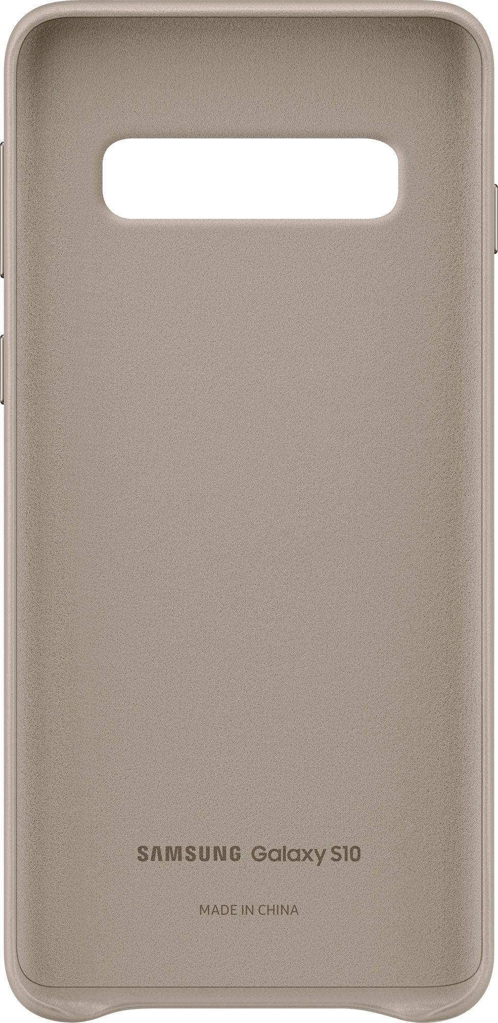 Панель Samsung Leather Cover для Samsung Galaxy S10 (EF-VG973LJEGRU) Gray от Територія твоєї техніки - 4