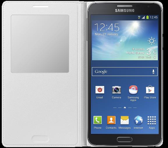 Чехол Samsung S View EF-CN750BWEGRU White для Galaxy Note 3 Neo - 2