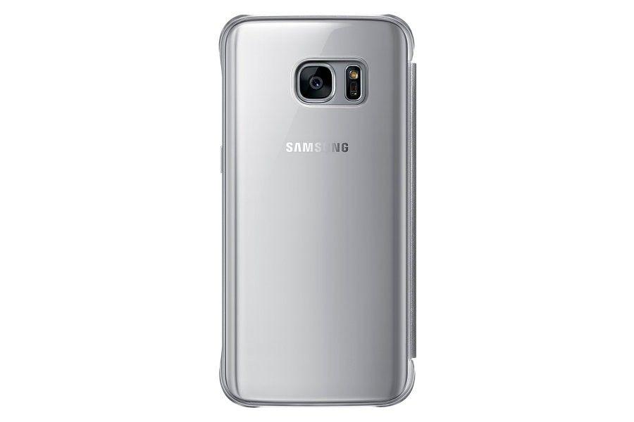 Чехол Samsung Clear Cover для Galaxy S7 Silver (EF-ZG930CSEGRU) - 2