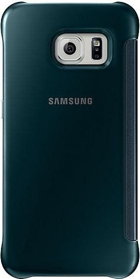Чехол Samsung Clear View для Samsung Galaxy S6 Edge Green (EF-ZG925BGEGRU) - 1
