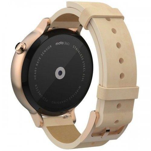 Смарт часы Motorola Moto 360 2nd Generation Smartwatch 42mm Stainless Steel with Rose Gold Leather Strap - 4