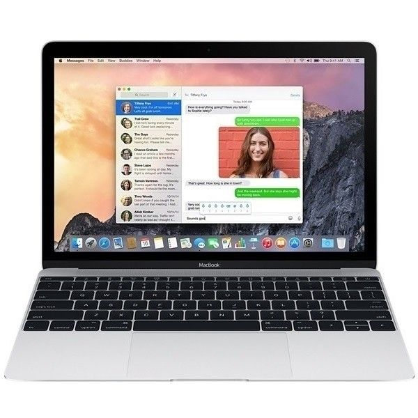 "Ноутбук Apple MacBook 12"" Silver (MF855UA/A) - 1"