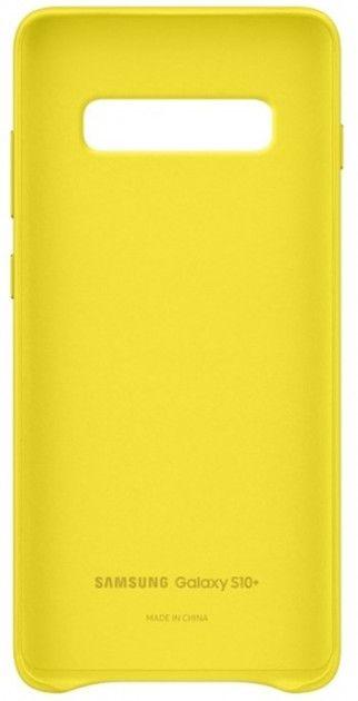 Панель Samsung Leather Cover для Samsung Galaxy S10 Plus (EF-VG975LYEGRU) Yellow от Територія твоєї техніки - 4