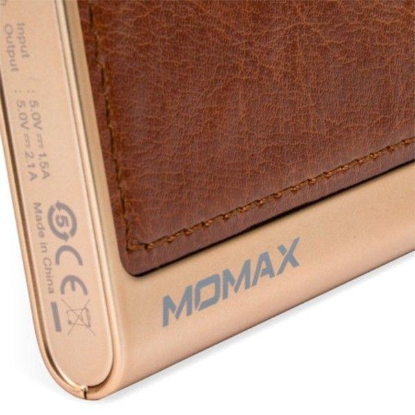 Портативная батарея MOMAX IPOWER ELITE EXTERNAL BATTERY PACK 5000MAH BROWN (IP51AF) - 3