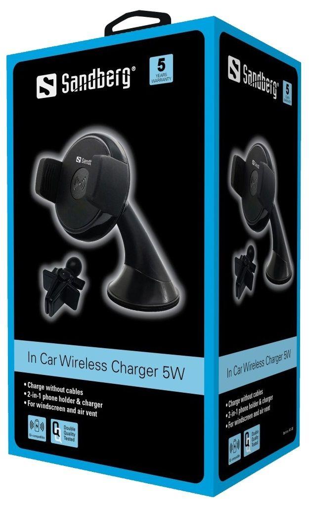 Бездротове зарядний пристрій Sandberg In Car Wireless Charger 5W (441-08)