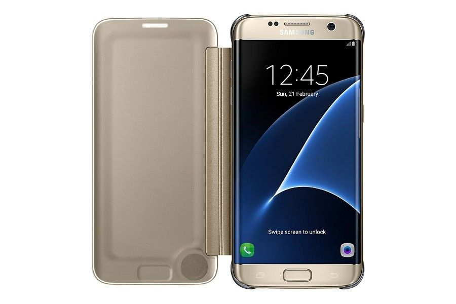 Чехол Samsung Clear View Cover для Galaxy S7 Edge Gold (EF-ZG935CFEGRU) - 3