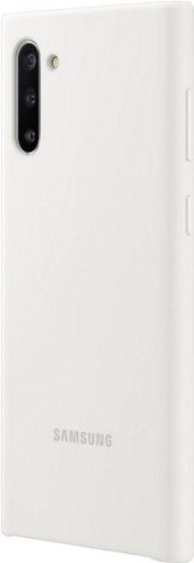 Накладка Samsung Silicone Cover для Samsung Galaxy Note 10 (EF-PN970TWEGRU) White от Територія твоєї техніки - 3