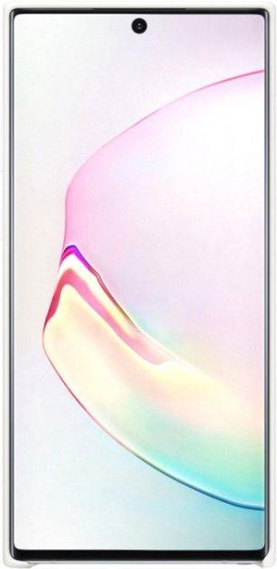 Накладка Samsung Silicone Cover для Samsung Galaxy Note 10 Plus (EF-PN975TWEGRU) White от Територія твоєї техніки - 2