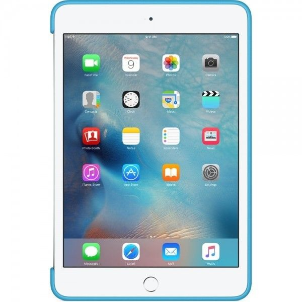Силиконовый чехол Apple Silicone Case для  iPad mini 4 (MLD32ZM/A) Blue  - 2