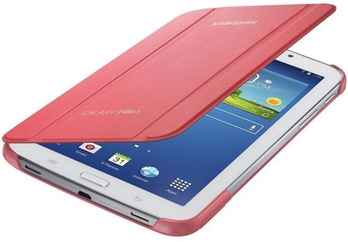 Обложка Samsung для Galaxy Tab 3.0 7.0 Berry Pink (EF-BT210BPEGWW) - 1
