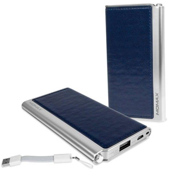 Портативная батарея MOMAX iPower Elite External Battery Pack 5000mAh Blue (IP51AB) - 2