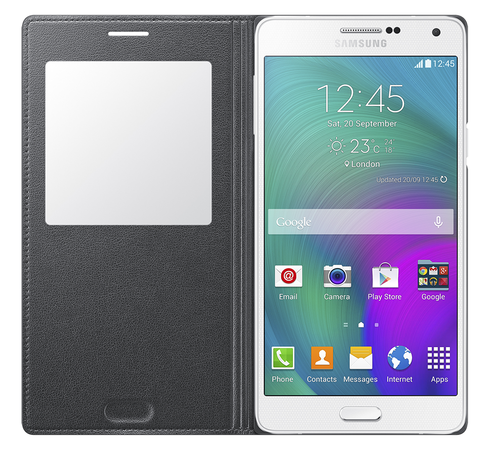 Чехол Samsung S Cover View для Samsung Galaxy A7 Charcoal (EF-CA700BCEGRU) - 3