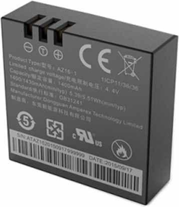 Батарея для камеры Xiaomi Yi 4K Action Camera 1430 мА*ч (YI-91016)