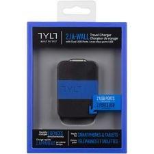 Сетевое зарядное устройство Tylt Wall Travel Charger 4,2A Dual USB Port Black-Blue (USBTC42BL-EUK) - 3
