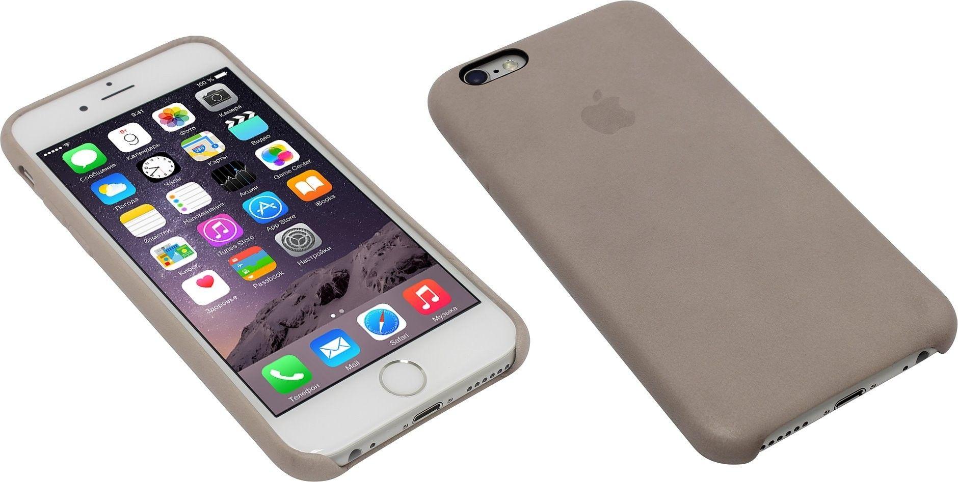 Чехол для Apple iPhone 6s Leather Case Rose Gray (MKXV2ZM/A) - 4