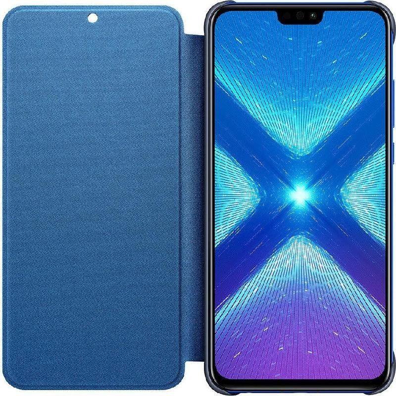 HUAWEI / Чехол-книжка Honor 8x Flip Cover Blue
