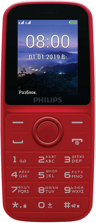 Мобильный телефон Philips E109 Red от Територія твоєї техніки - 2