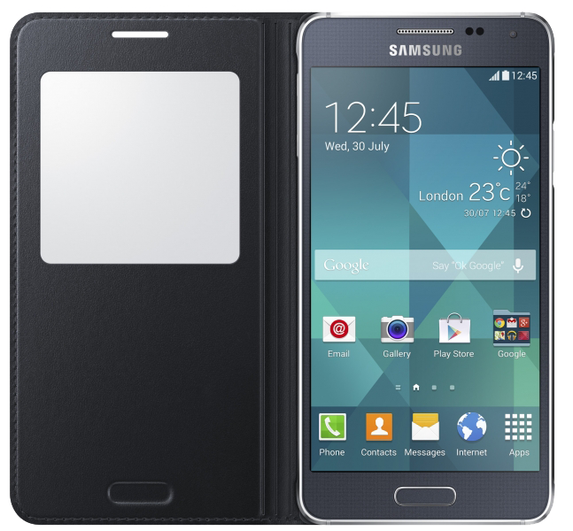 Чехол Samsung S View EF-CG850BBEGRU Black для Galaxy Alpha - 2