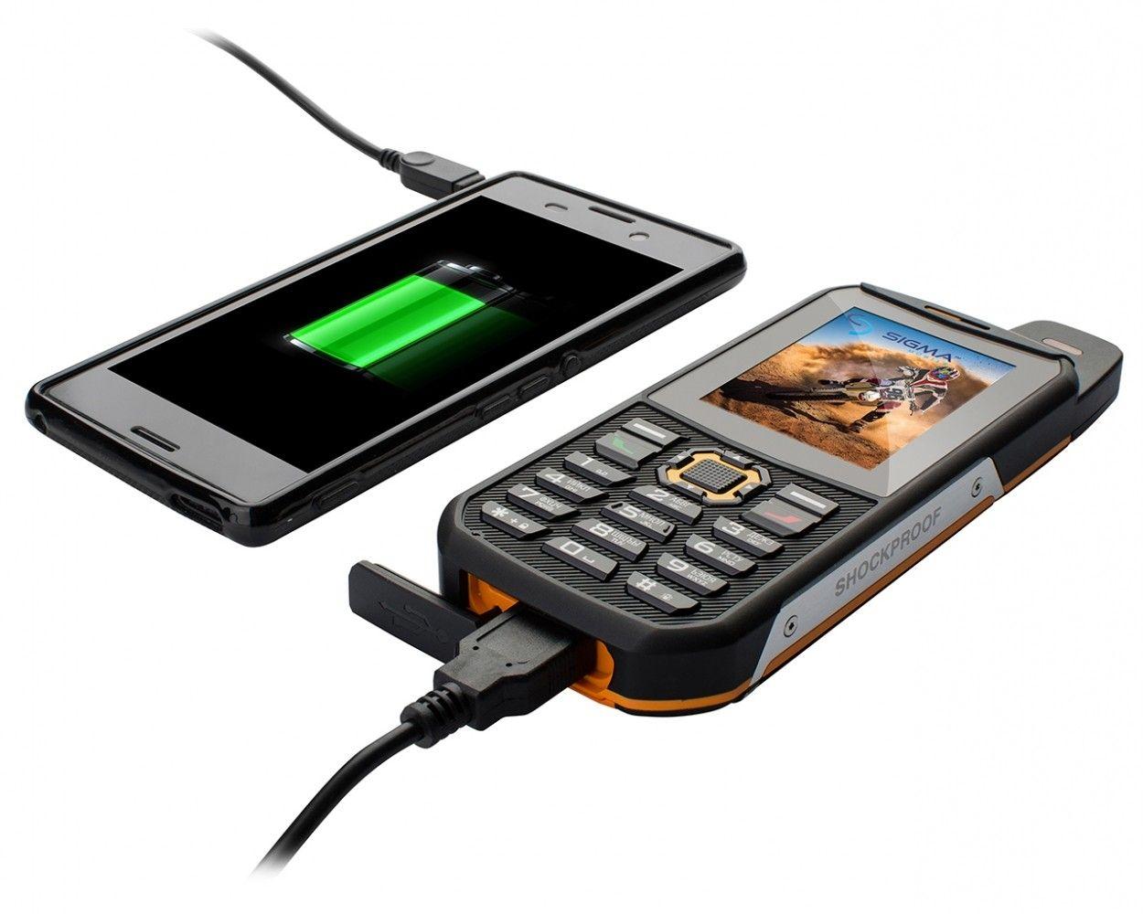 Мобильный телефон Sigma mobile X-treme 3SIM Black-Orange - 5