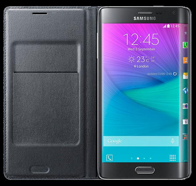 Чехол Samsung Flip Wallet для Galaxy Note Edge EF-WN915BCEGRU Charcoal - 3