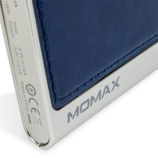 Портативная батарея MOMAX iPower Elite External Battery Pack 5000mAh Blue (IP51AB) - 3